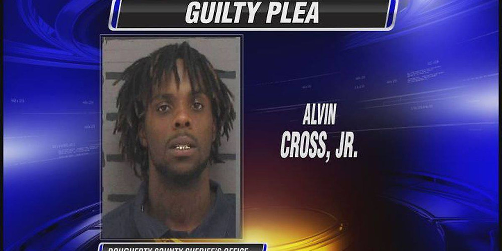 Image from news coverage of Alvin Cross Jr. showing his mugshot