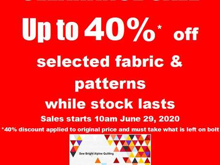 The Sale must go on!