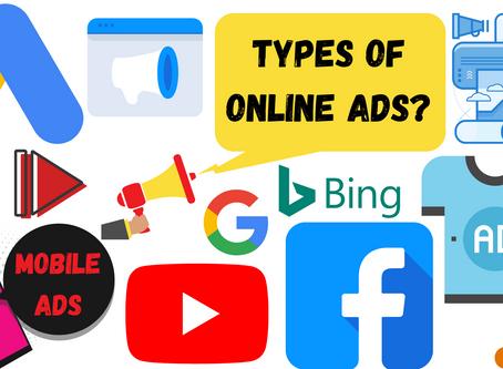 Types of online advertising?