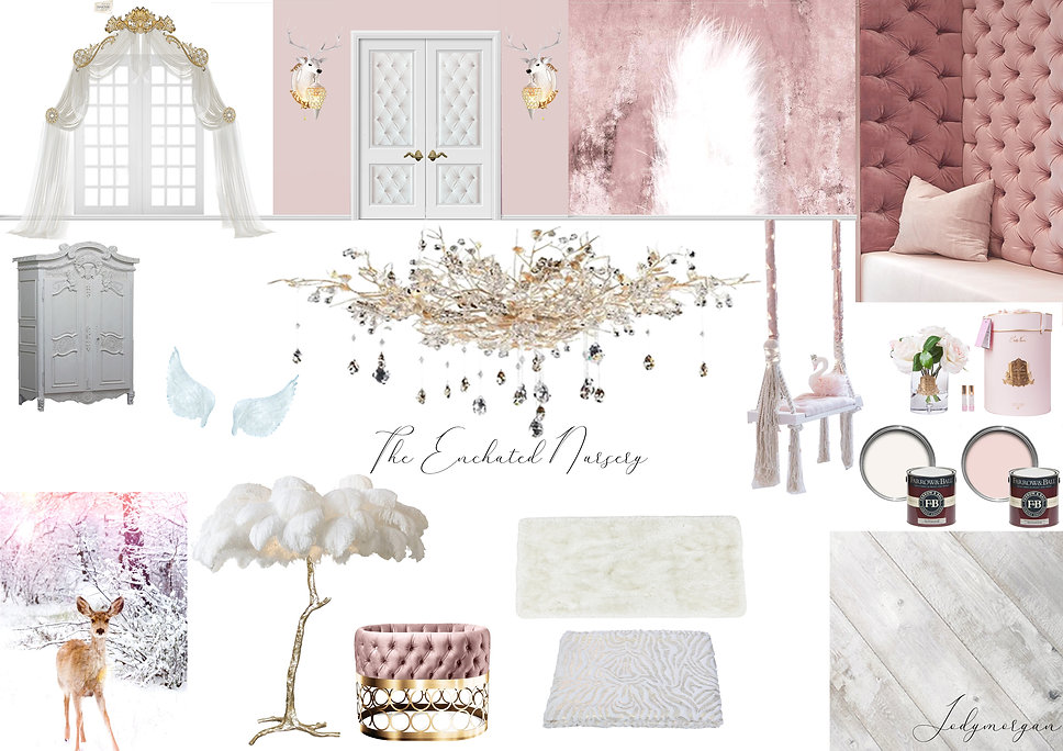 Rowen Design Mood Board The Enchanted Nu