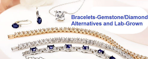 bracelet diamond alternatives lab grown