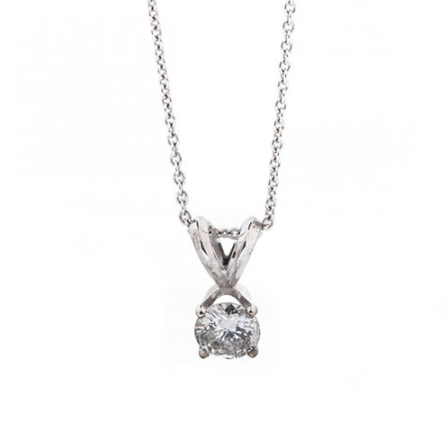 Diamond Solitaire Pendant with Y-Shaped Bale