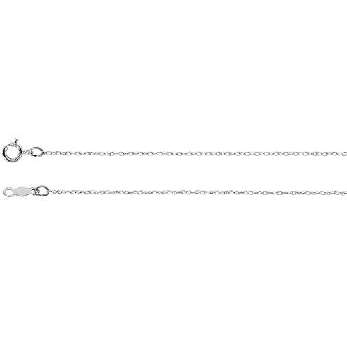 14K White .75 mm Rope Chain