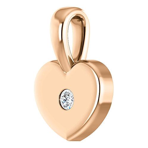 14 Karat Diamond Youth Heart Pendant