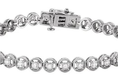 "14K White 1/2 CTW Diamond Line 7.25"" Bracelet"