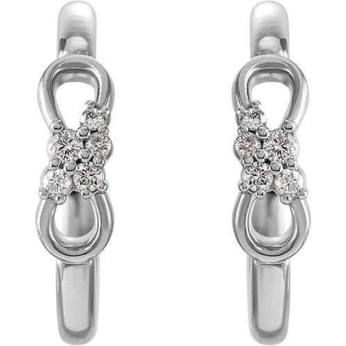 Diamond Infinity-Inspired Hoop Earrings