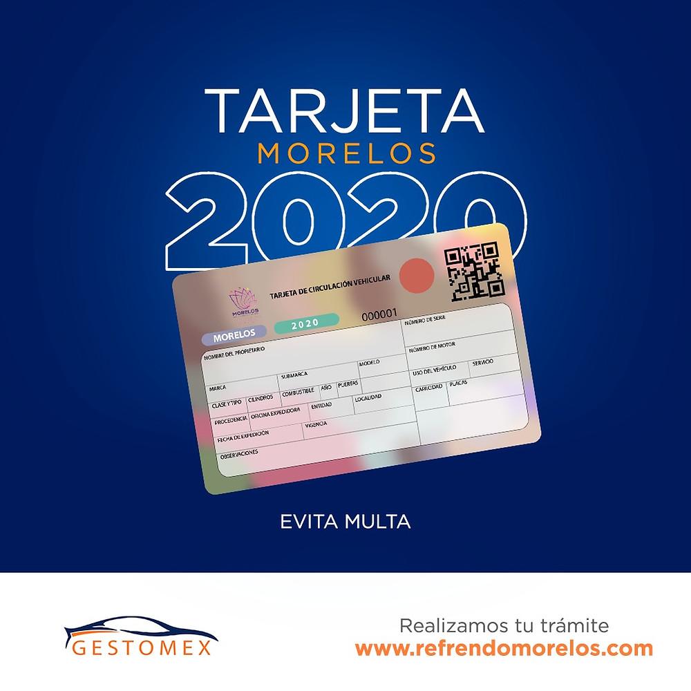 Tarjeta Morelos 2020