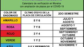 Dan prórroga del calendario de verificación en Morelos