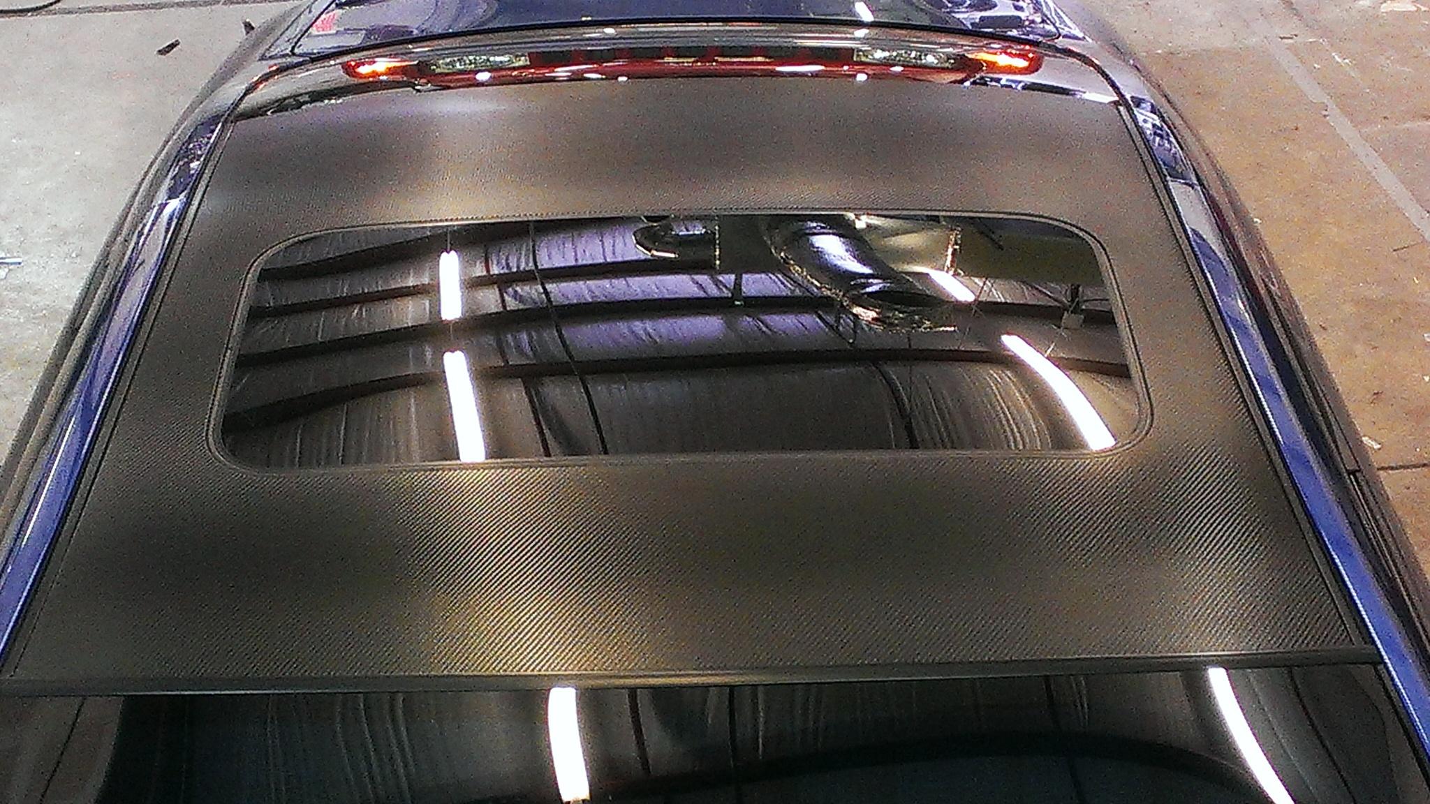 Carbon Fiber Dinoc Roof Wrap