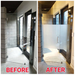 Shower - White Frost Before & After