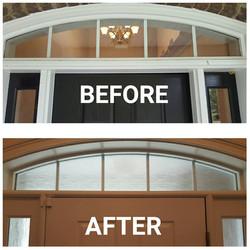 Doorway - Clear Waters Film Before & After