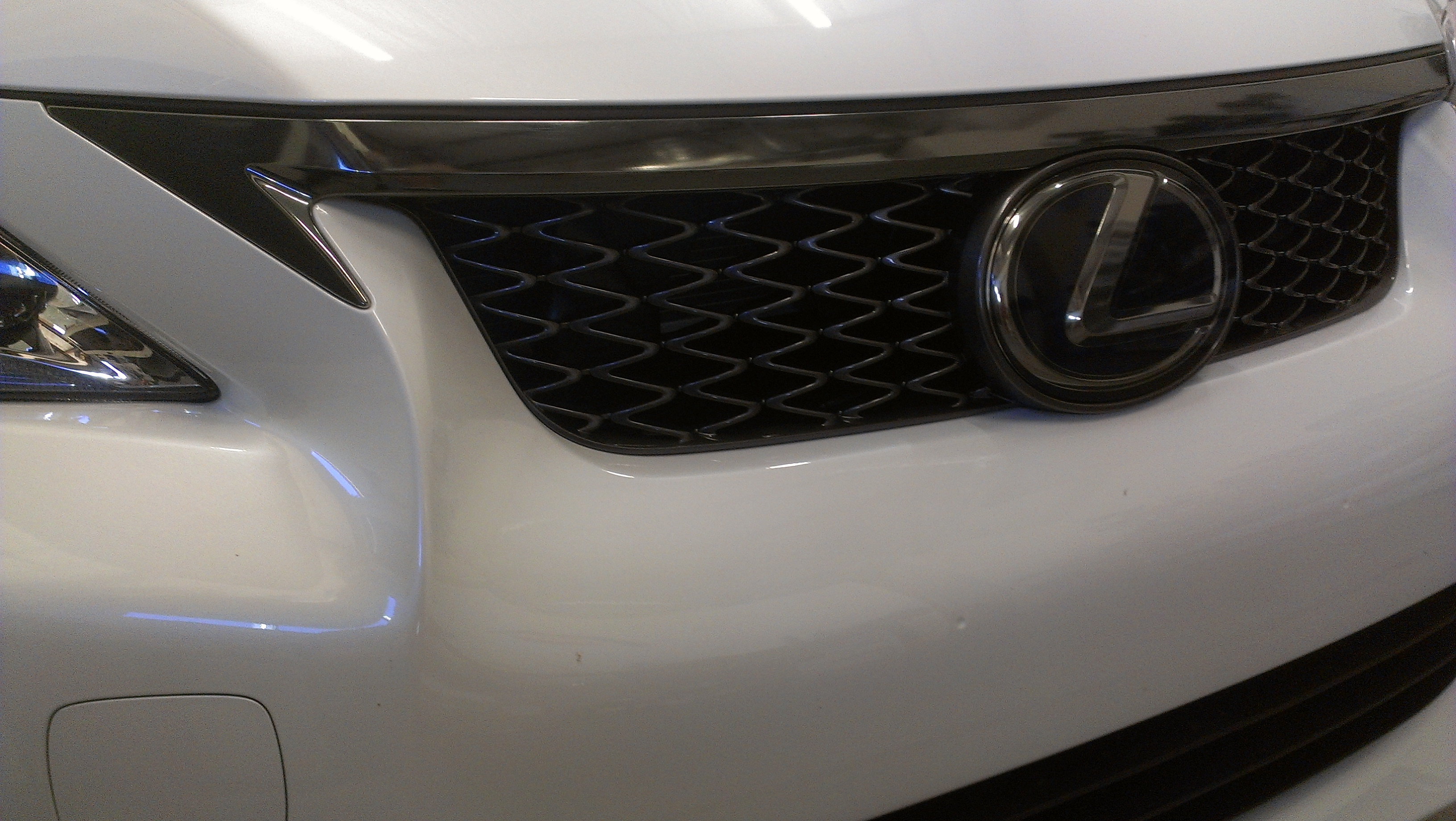 """Black Chrome"" Wrap on Front Grill"