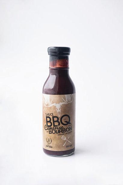 Caisse de sauce BBQ camerise et bourbon (12 bouteilles)