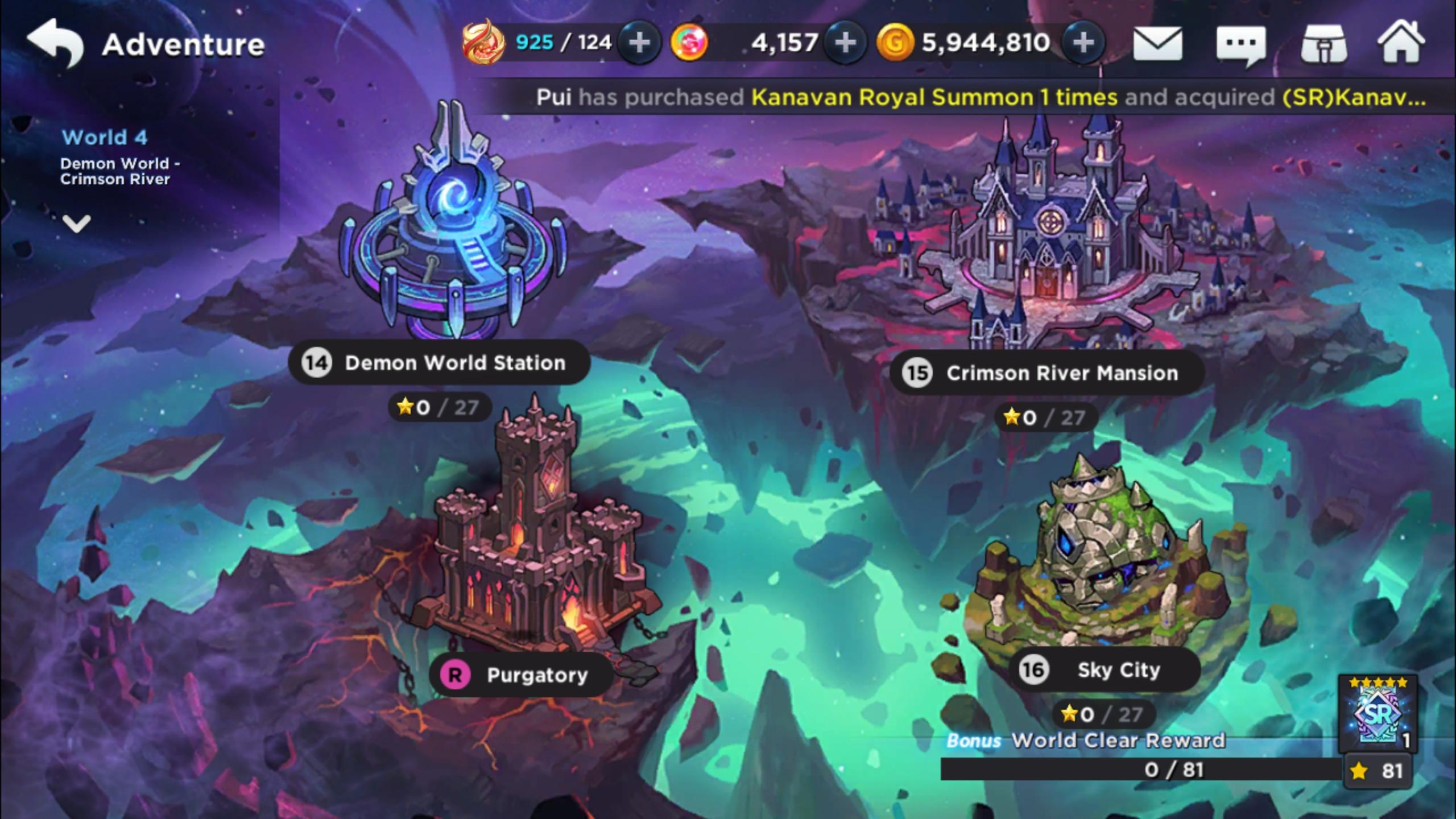 GrandChase Story Mode July 2019 SR Reset & SR Rewards