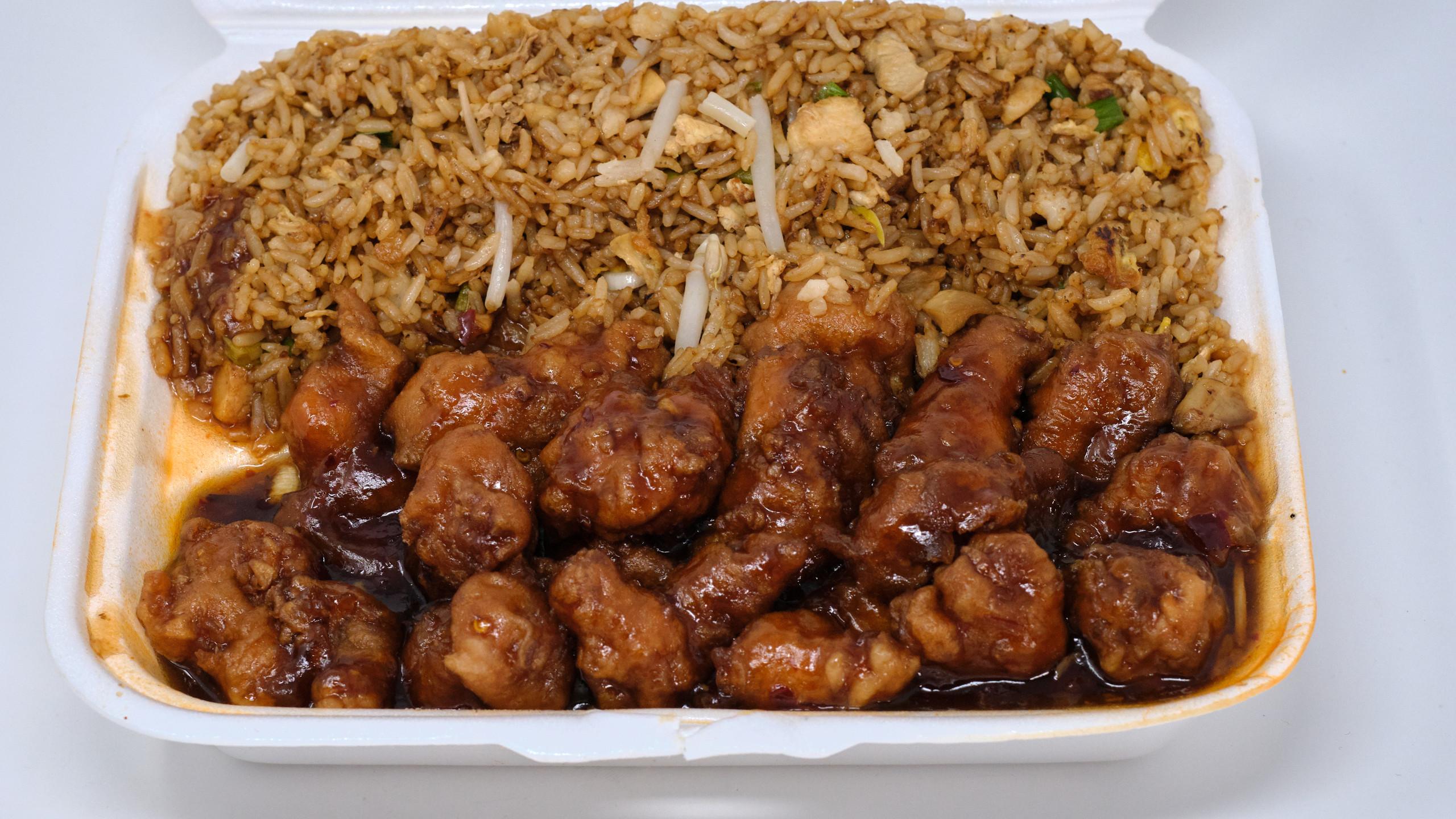 Tasty Chinese Food Orange Chicken Lunch Special