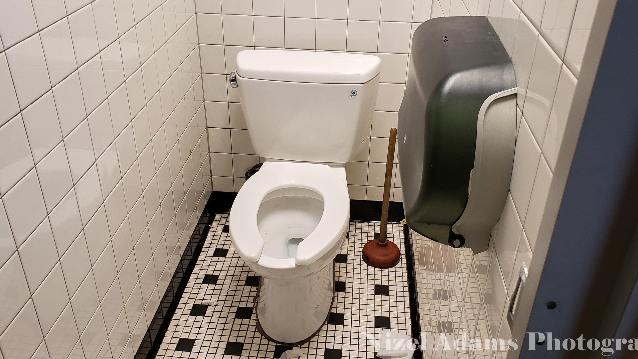 Men's Bathroom Stall at Steak n' Shake Aurora, Illinois