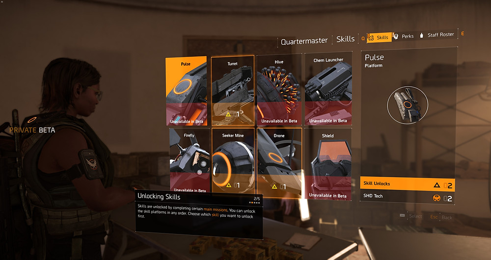 Ubisoft the Division 2 new character skills hive chem launcher firefly seeker mine drone
