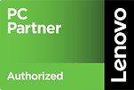Lenovo PC Partner Authorized Green Black badge