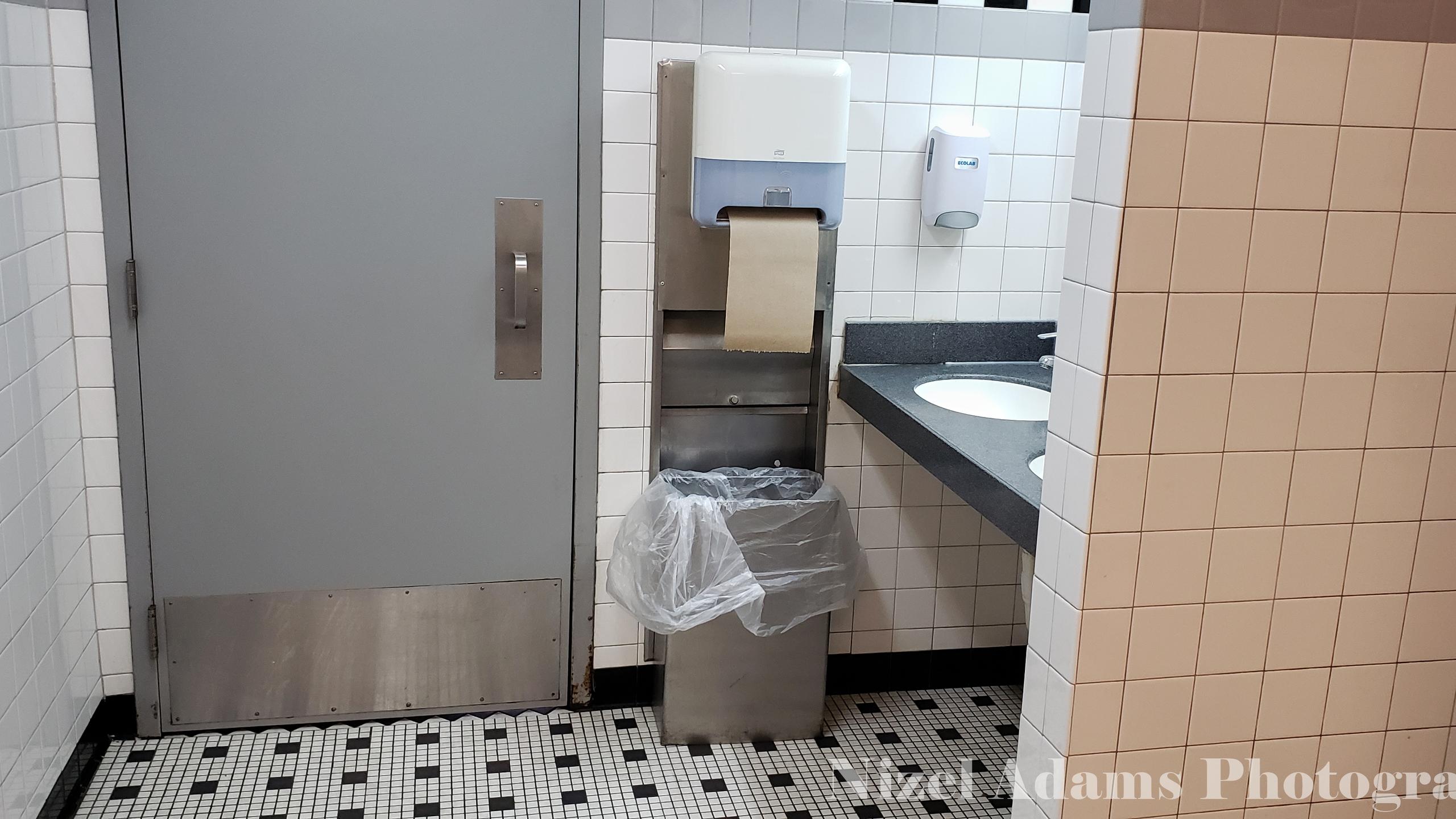 Men's Bathroom at Steak n' Shake Aurora, Illinois