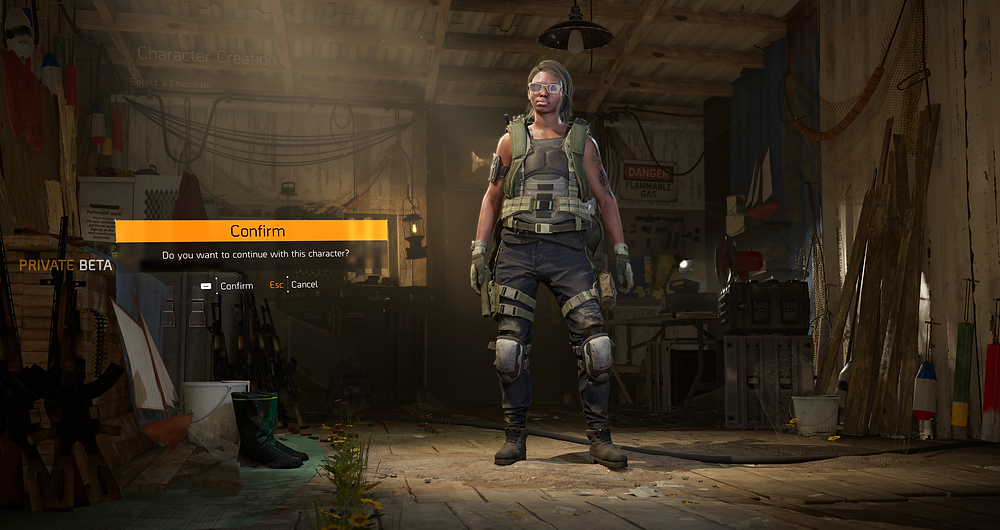 The Division 2 Character Creation Beginning
