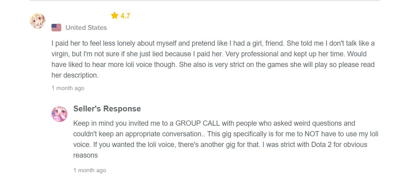 Fiverr gaming user review