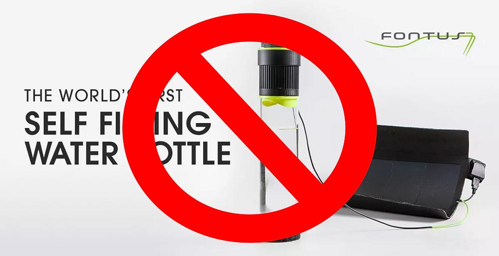 IndieGoGo Fontus Self Filling Water Bottle