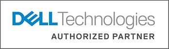 Dell Technologies Authorized Partner Logo White Background Blue Grey