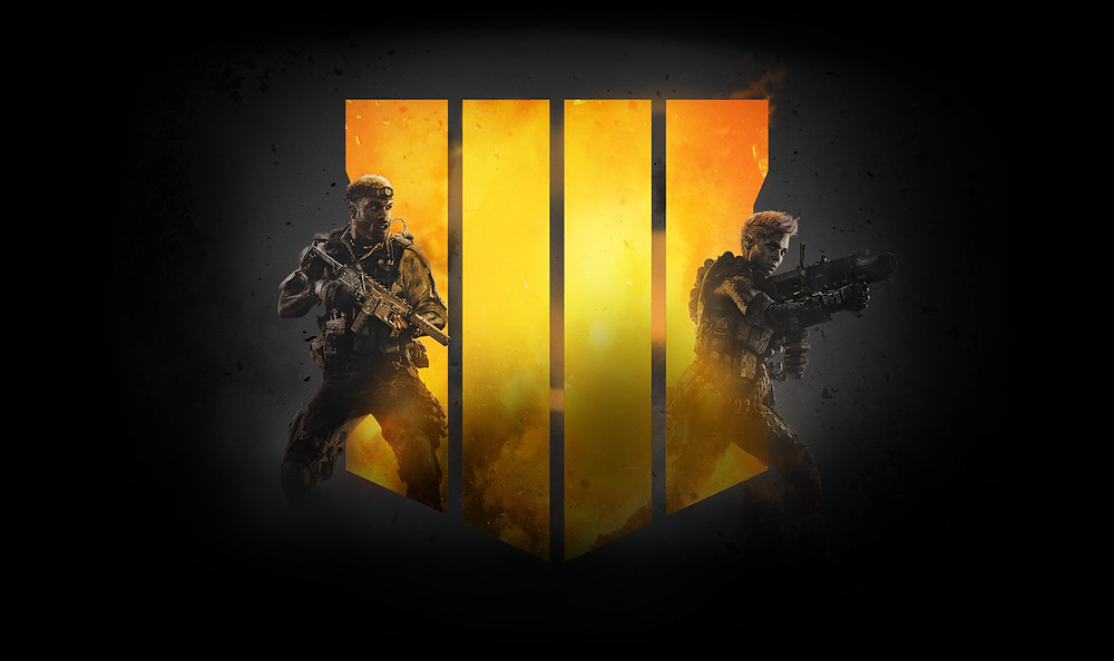 Activision Call of Duty Black Ops 4 logo man woman