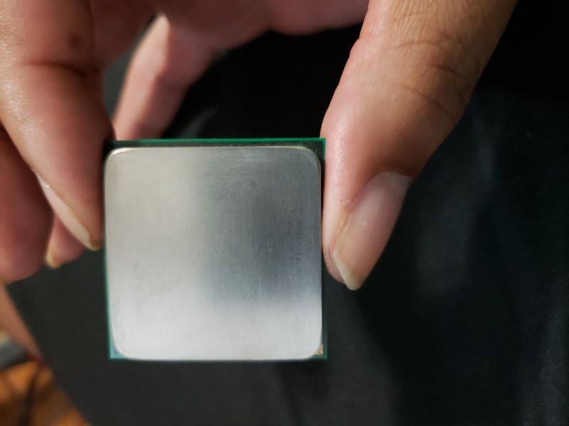 CPU Processor after polishing