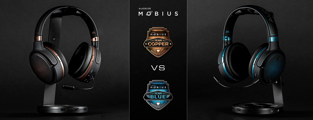 Audeze Mobius headset stand copper vs blue