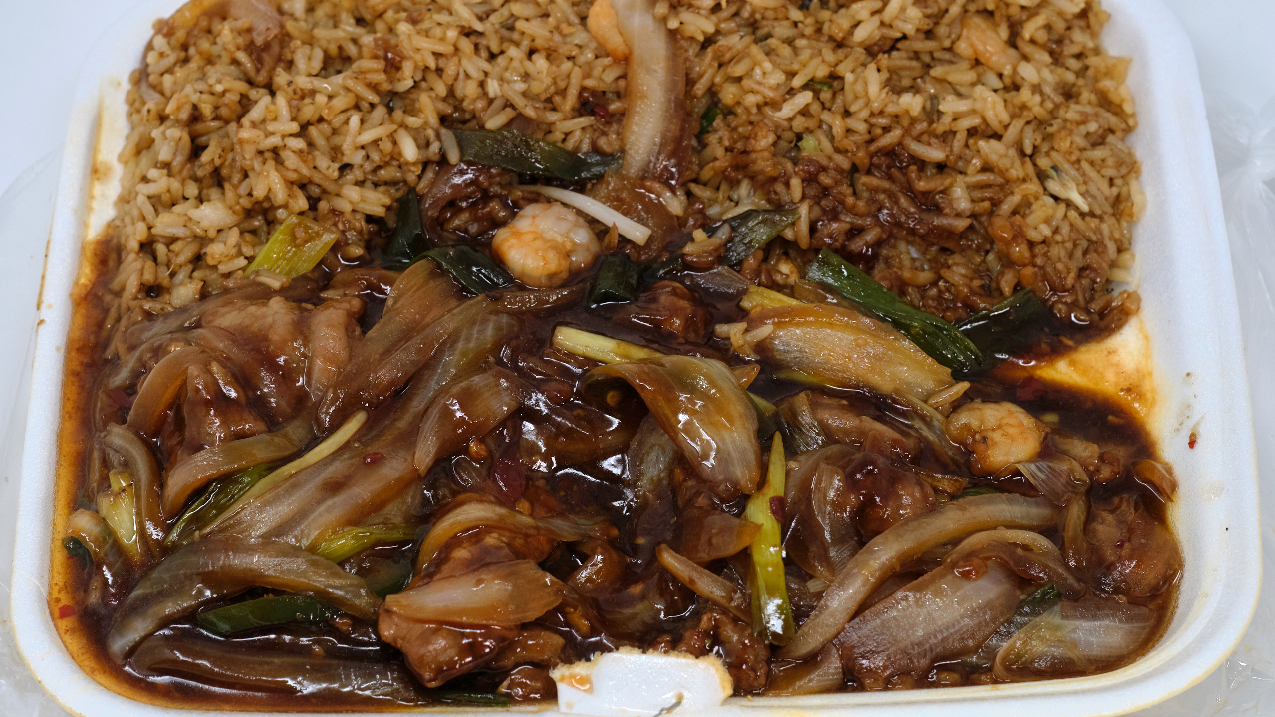 Tasty Chinese Food Mongolian Beef Lunch Special