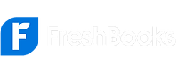 Freshbooks logo white blue transparent background
