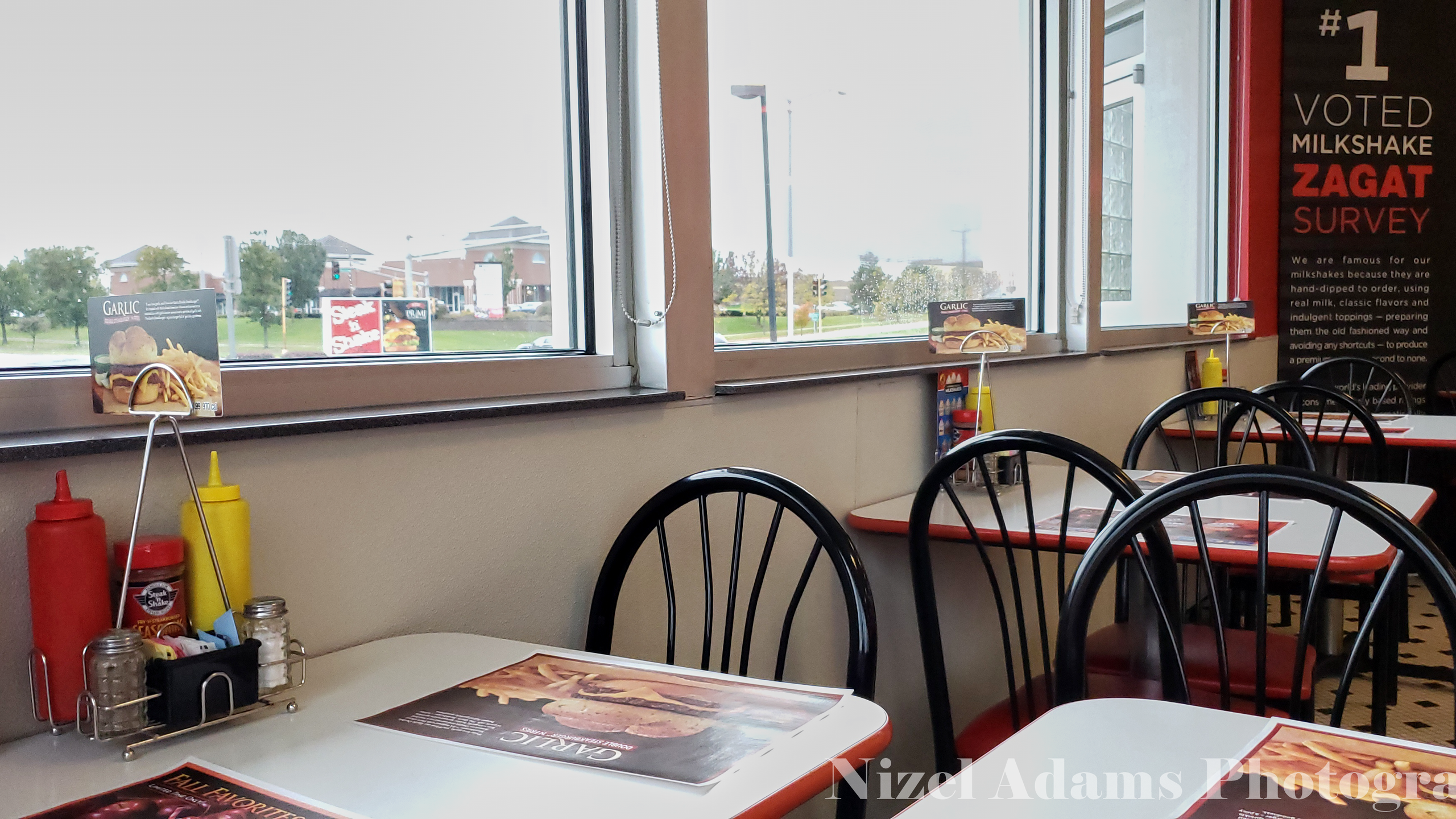Windows Seats at Steak n' Shake Aurora, Illinois
