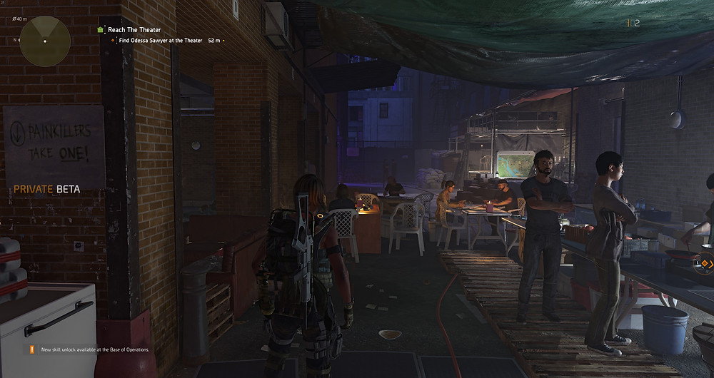 Ubisoft the Division 2 safehouse theater hipsters