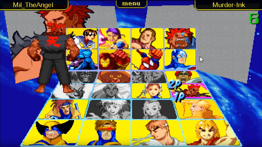 Street Fighter Online Character Selection