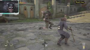Absolver Bonemane enemy attacking mid-air