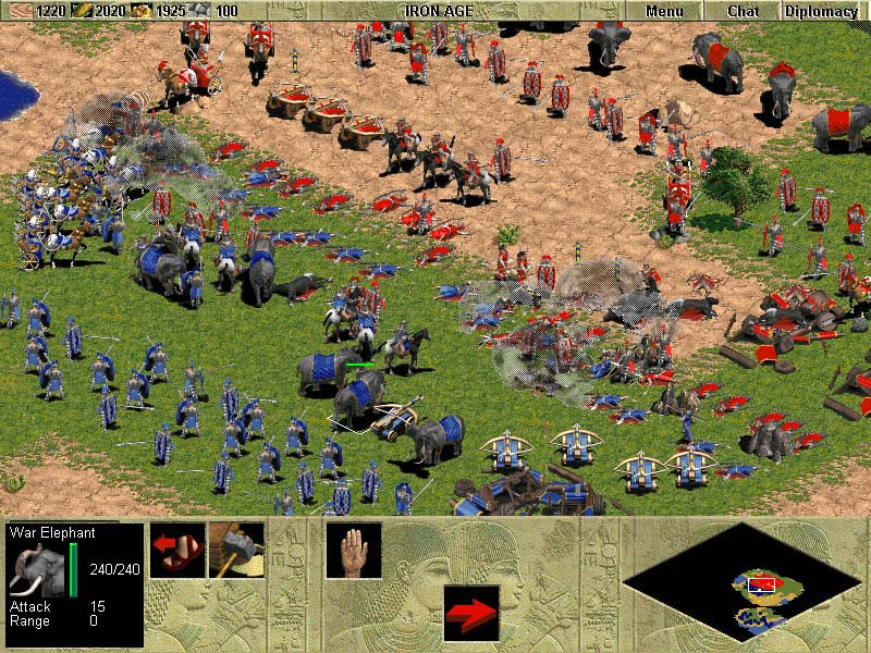 Age of Empires Rise of Rome battle