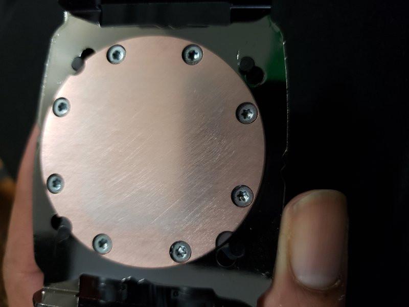 CPU Heatsink after polishing