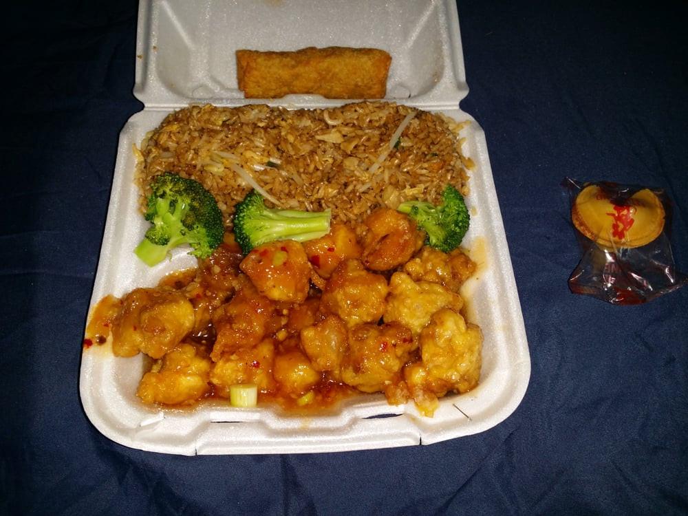 China Fast Wok Orange Chicken Lunch Special