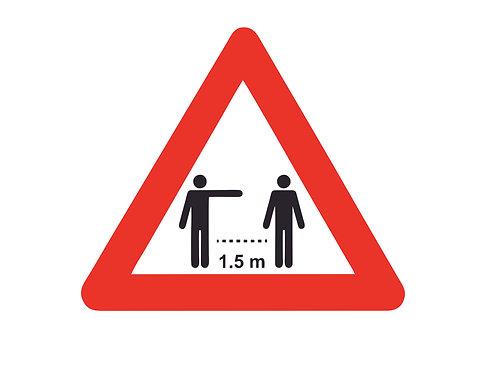 Houd afstand driehoek sticker 30cm