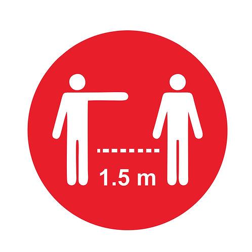 Houd afstand sticker 30cm