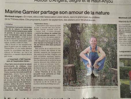 Super article sur l'asso dans Ouest France cette semaine