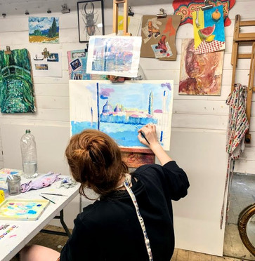 Monet inspired cityscapes in Scholarship sessions