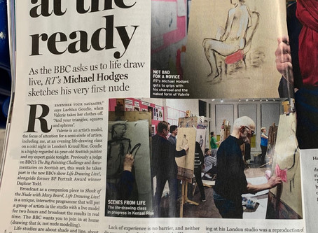 Monday Life Drawing Class featured in the Radio Times!