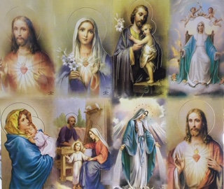 8 Estampitas variadas misa