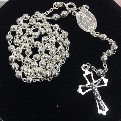 Rosario Medalla Milagrosa Plata -9018