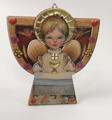 Angel madera comunión