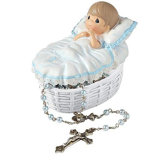 Bautizo cajita y rosario niño -153407