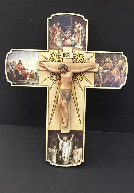"Crucifijo Vida de Jesús12"" - 65964"