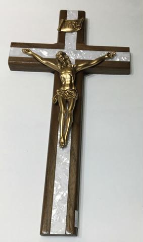 Crucifijo de Madera y Nacar